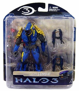 Halo 3 McFarlane Toys Series 3 Exclusive Action Figure BLUE & YELLOW Elite Combat COLLECTOR'S CHOICE!