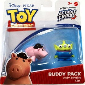Disney / Pixar Toy Story 3 Exclusive Action Links Mini Figure Buddy 2-Pack Evil Dr. Porkchop & Alien