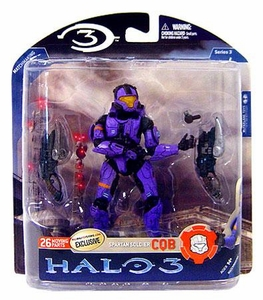 Halo 3 McFarlane Toys Series 3 Exclusive Action Figure VIOLET Spartan Soldier CQB COLLECTOR'S CHOICE!