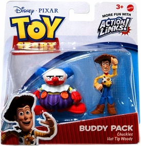 Disney / Pixar Toy Story 3 Exclusive Action Links Mini Figure Buddy 2-Pack Chuckles & Hat Tip Woody