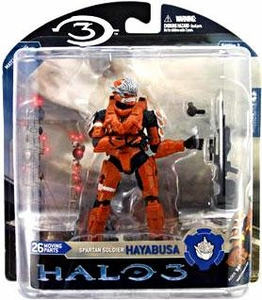 Halo 3 McFarlane Toys Series 3 UK Exclusive Action Figure ORANGE Spartan Soldier Hayabusa [Battle Rifle]