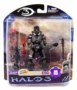 Halo 3 McFarlane Toys Series 3 Exclusive Action Figure STEEL Spartan EOD [Sniper Rifle!]