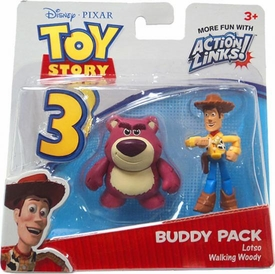 Disney / Pixar Toy Story 3 Action Links Mini Figure Buddy 2-Pack Lotso & Walking Woody