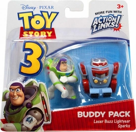 Disney / Pixar Toy Story 3 Action Links Mini Figure Buddy 2-Pack Laser Buzz Lightyear & Sparks