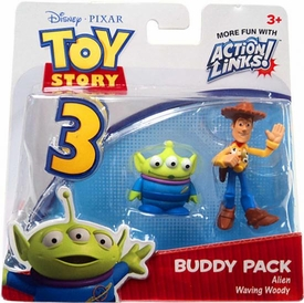 Disney / Pixar Toy Story 3 Action Links Mini Figure Buddy 2-Pack Alien & Waving Woody