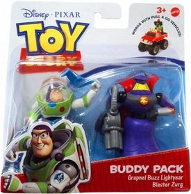 Disney / Pixar Toy Story 3 Action Links Mini Figure Buddy 2-Pack Grapnel Buzz Lightyear & Blaster Zurg