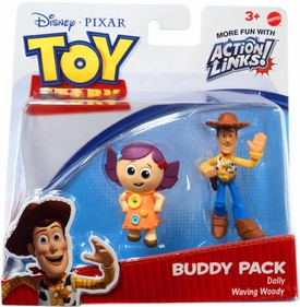 Disney / Pixar Toy Story 3 Action Links Mini Figure Buddy 2-Pack Dolly & Waving Woody