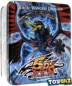 YuGiOh 5D's 2010 Wave 1 Collector Tin Set Black-Winged Dragon [Chimeratech Fortress Dragon, Blackwing Vayu, Green Baboon & Wicked Eraser]
