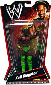 Mattel WWE Wrestling Basic Series 1 Action Figure Kofi Kingston [Green Outfit]
