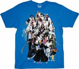 Bleach Adult T-Shirt Bleach Universe (blue)