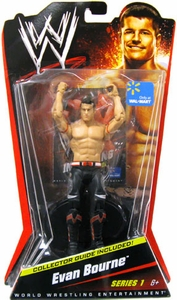 Mattel WWE Wrestling Exclusive Basic Series 1 Action Figure Evan Bourne [Collector Guide Included]