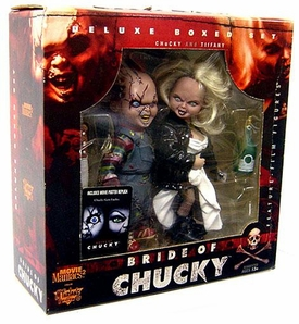 McFarlane Toys Movie Maniacs Series 2 Deluxe Boxed Set Bride of Chucky [Chucky & Tiffany] Damaged Package, Mint Contents!