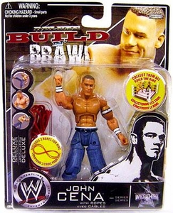 WWE Wrestling Build N' Brawl Wrestlemania 25h Anniversary Mini 4 Inch Figure John Cena