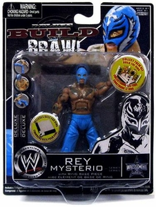 WWE Wrestling Build N' Brawl Wrestlemania 25th Anniversary Mini 4 Inch Figure Rey Mysterio [Blue]