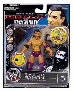 WWE Wrestling Build N' Brawl Series 5 Mini 4 Inch Action Figure Razor Ramon
