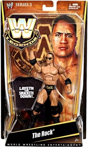 Mattel WWE Wrestling Legends Series 3 Action Figure The Rock