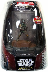 Star Wars Titanium Series Diecast 3 3/4 Figure Boba Fett [Original Finish]