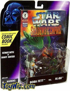 Star Wars POTF2 Shadows of the Empire Comic Pack Boba Fett vs. IG-88