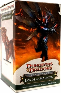 D&D Dungeons & Dragons Trading Miniatures Game HUGE Booster Pack Lords of Madness [7 Figures]