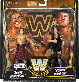 Mattel WWE Wrestling Exclusive Elite True Legends Action Figure 2-Pack Rowdy Roddy Piper & Cowboy Bob Orton