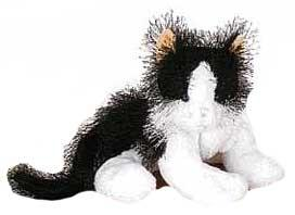 Lil'Kinz Mini Plush Black & White Cat