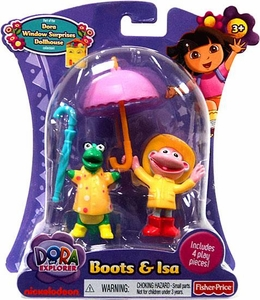 Dora the Explorer Action Figure Boots & Isa in Rain Gear