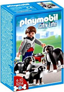 Playmobil Life In The City Set #5214 Mountain Dogs with Puppy