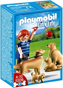 Playmobil Life In The City Set #5209 Golden Retriever with Puppies