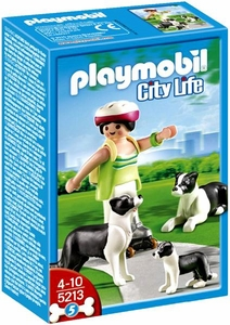 Playmobil Life In The City Set #5213 Border Collies with Puppy