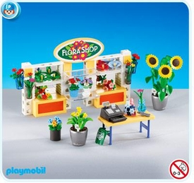 Playmobil Life In The City Set #7496 Flower Shop Interior