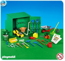 Playmobil Life In The City Set #7490 Shed with Tools