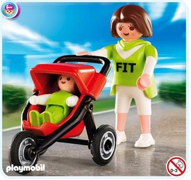 Playmobil Life In The City Set #4697 Mother with Jogging Stroller