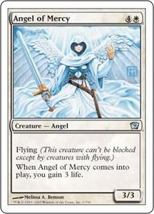 Magic the Gathering Ninth Edition Single Card Uncommon #1 Angel of Mercy