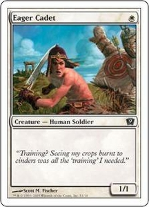 Magic the Gathering Ninth Edition Single Card Common #1 Eager Cadet