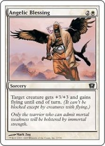 Magic the Gathering Ninth Edition Single Card Common #2 Angelic Blessing