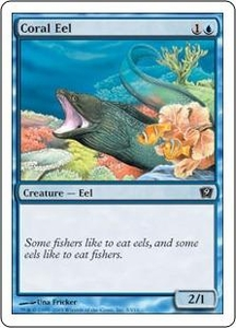 Magic the Gathering Ninth Edition Single Card Common #3 Coral Eel