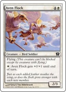 Magic the Gathering Ninth Edition Single Card Common #4 Aven Flock