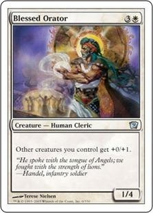 Magic the Gathering Ninth Edition Single Card Uncommon #6 Blessed Orator