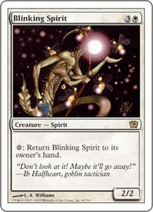 Magic the Gathering Ninth Edition Single Card Rare #8 Blinking Spirit