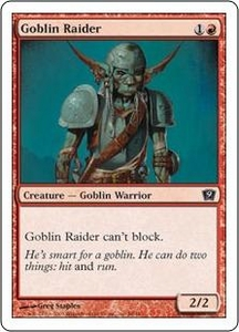 Magic the Gathering Ninth Edition Single Card Common #8 Goblin Raider