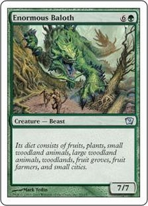 Magic the Gathering Ninth Edition Single Card Uncommon #9 Enormous Baloth