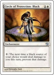 Magic the Gathering Ninth Edition Single Card Uncommon #10 Circle of Protection: Black