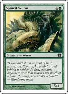 Magic the Gathering Ninth Edition Single Card Common #10 Spined Wurm