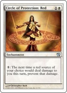 Magic the Gathering Ninth Edition Single Card Uncommon #11 Circle of Protection: Red