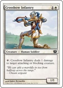 Magic the Gathering Ninth Edition Single Card Common #12 Crossbow Infantry