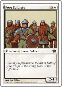 Magic the Gathering Ninth Edition Single Card Common #14 Foot Soldiers