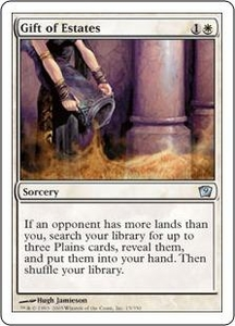 Magic the Gathering Ninth Edition Single Card Uncommon #15 Gift of Estates