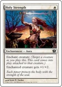Magic the Gathering Ninth Edition Single Card Common #19 Holy Strength