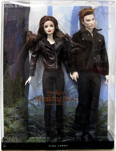 Twilight: Breaking Dawn Part 2 Pink Label Barbie Doll Figure 2-Pack Edward & Bella