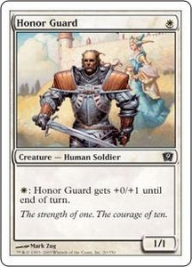 Magic the Gathering Ninth Edition Single Card Common #20 Honor Guard